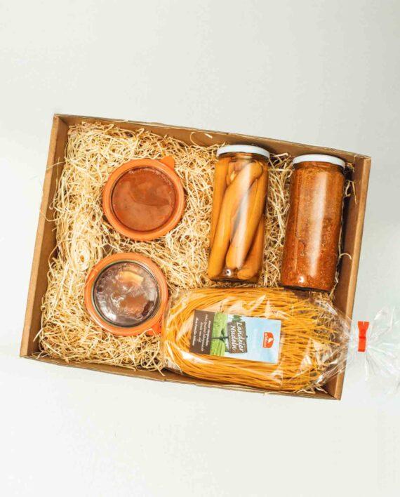 Leckeres und deftiges Geschenk für Foodies und Essensliebhaber, die nicht selber kochen wollen oder können.