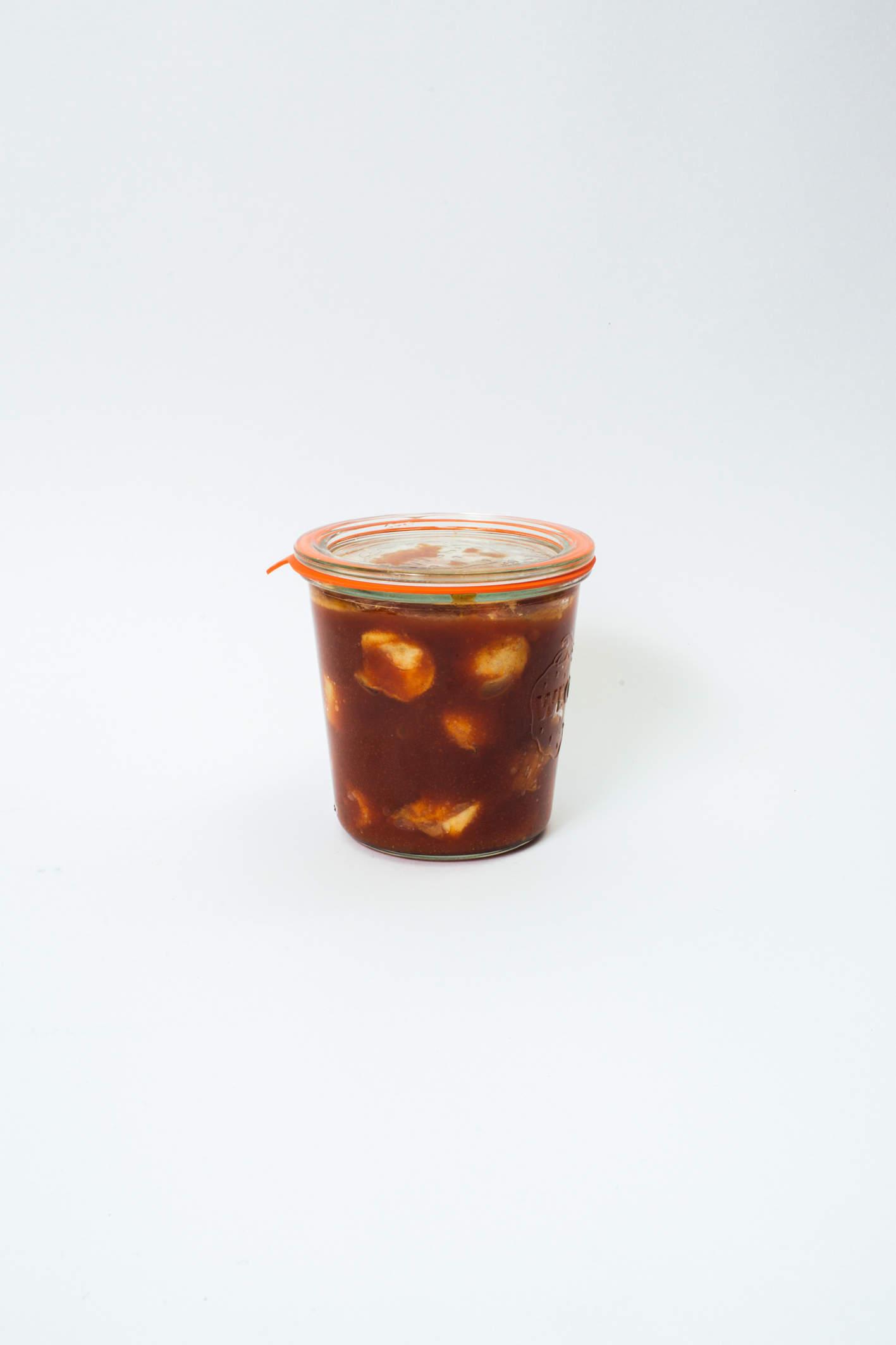 Currywurst im Weckglas