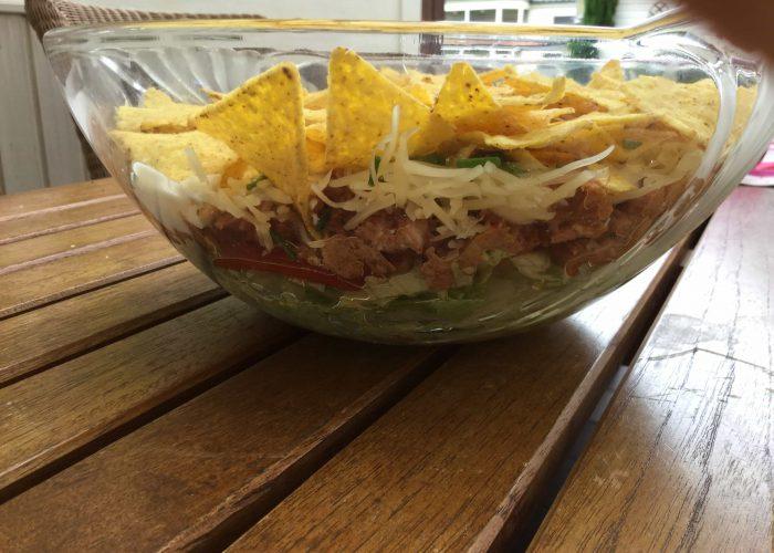 Viva el cerdo: Schichtsalat mit Pulled Pork