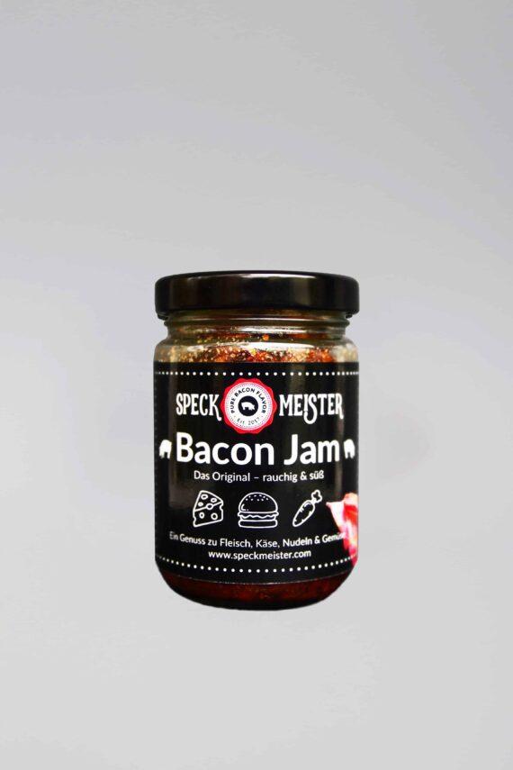 Bacon Jam, die sogenannte Speckmarmelade, bei den Wurstgeschwistern