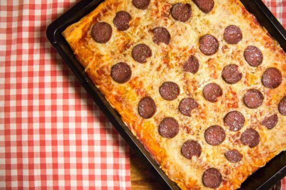 Galloway-Salami auf Pizza