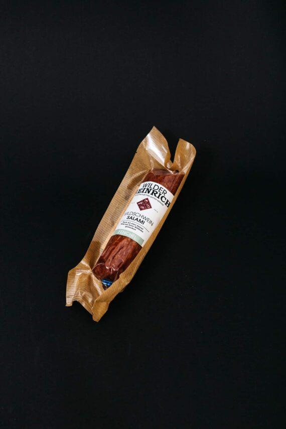 Wildschwein-Salamit in Vakuum