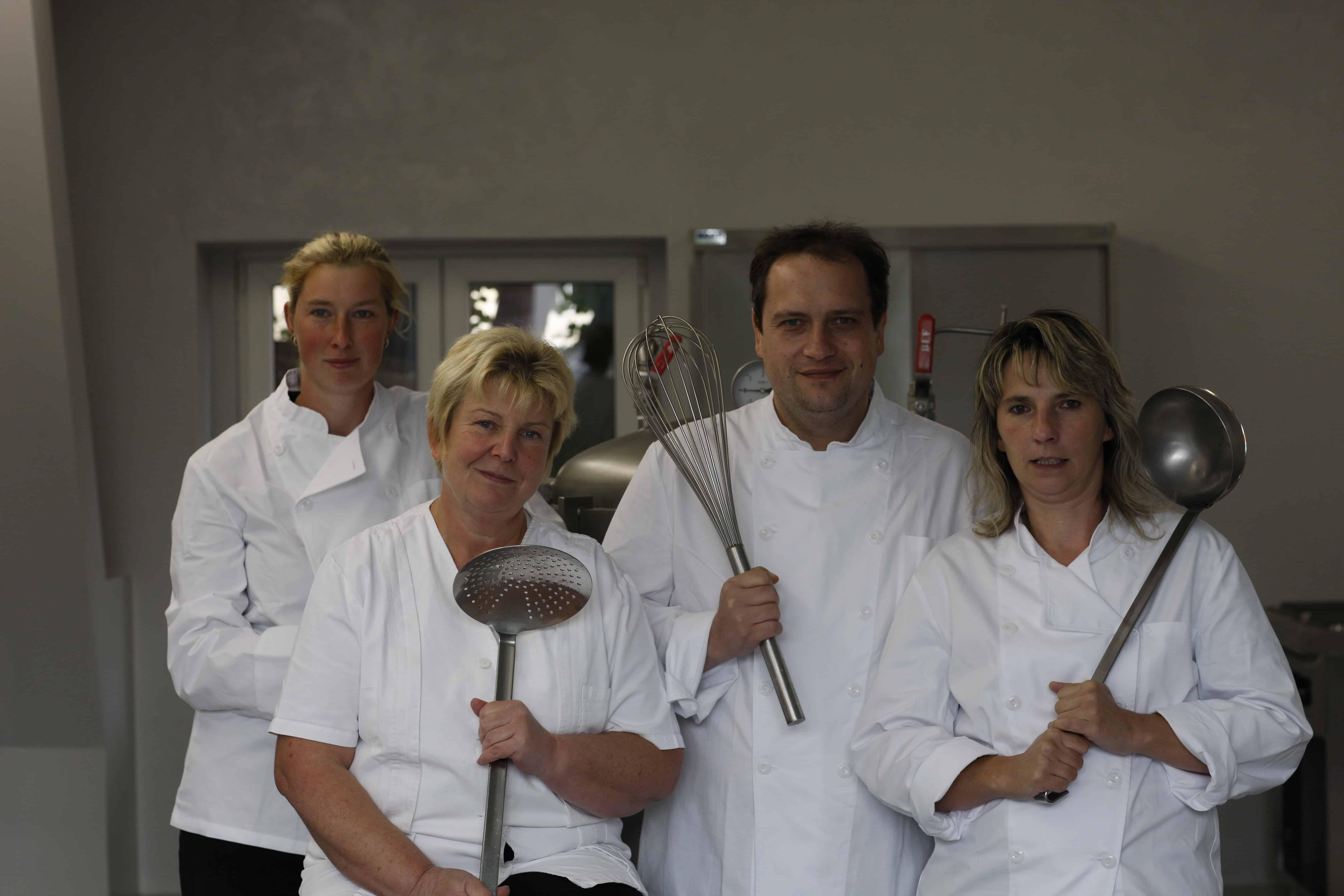 Das Küchenteam von Gut Krauscha