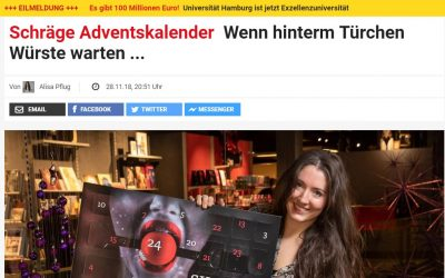 Schräge Adventskalender: Der Wurst-Adventskalender in der Presse